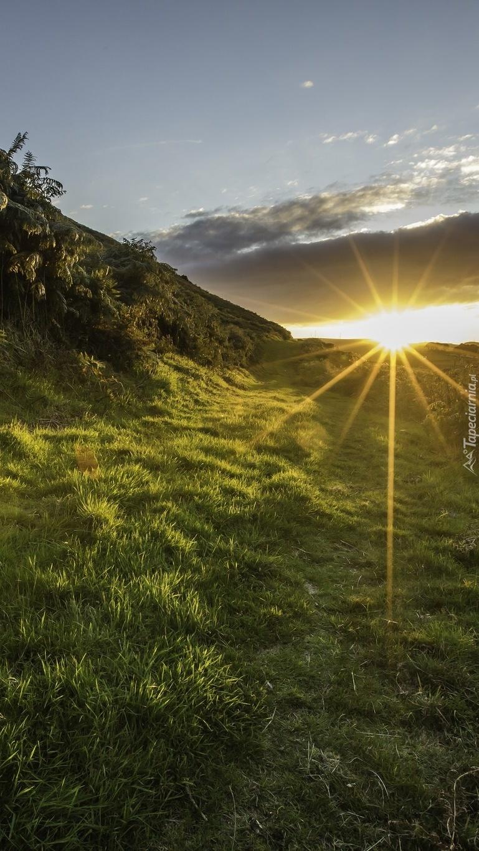Wstaje słońce w dolinie