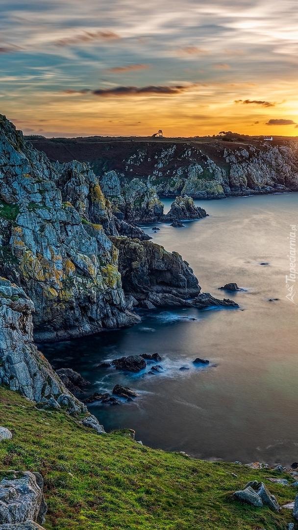 Wybrzeże Beuzec Cap Sizun w Bretanii