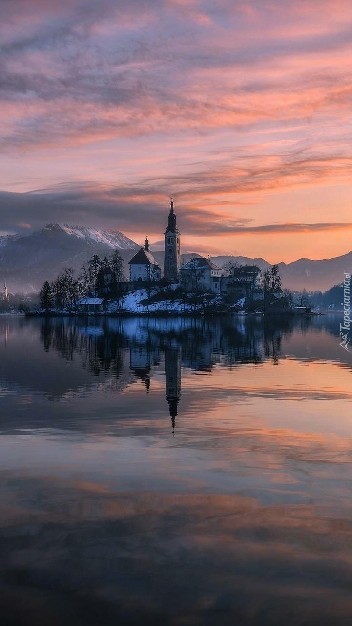 Wyspa Blejski Otok w Słowenii