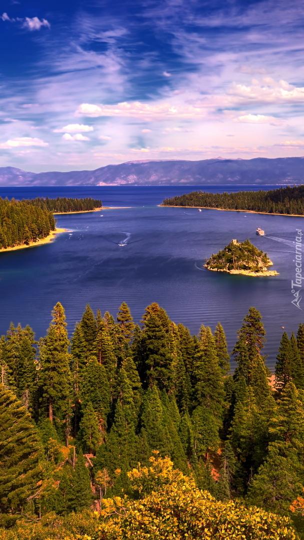 Wyspa Fannette na jeziorze Tahoe