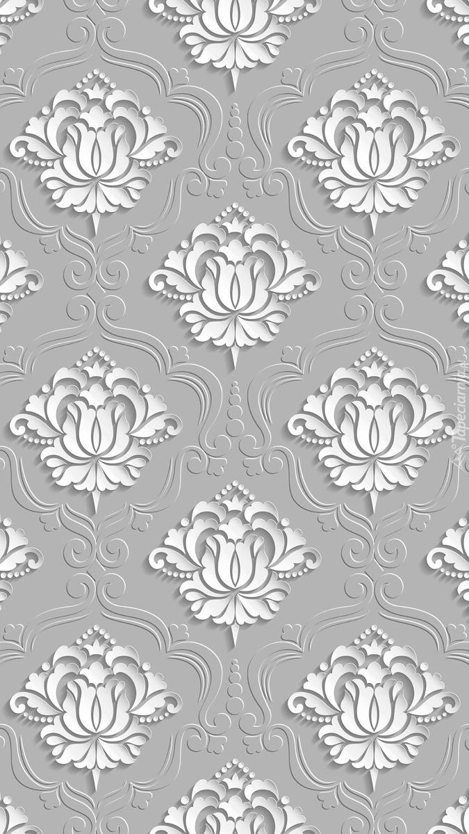 Wytłaczane białe wzory