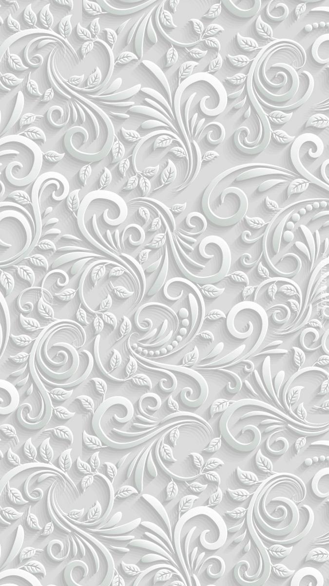 Wytłaczane wzory na białym tle