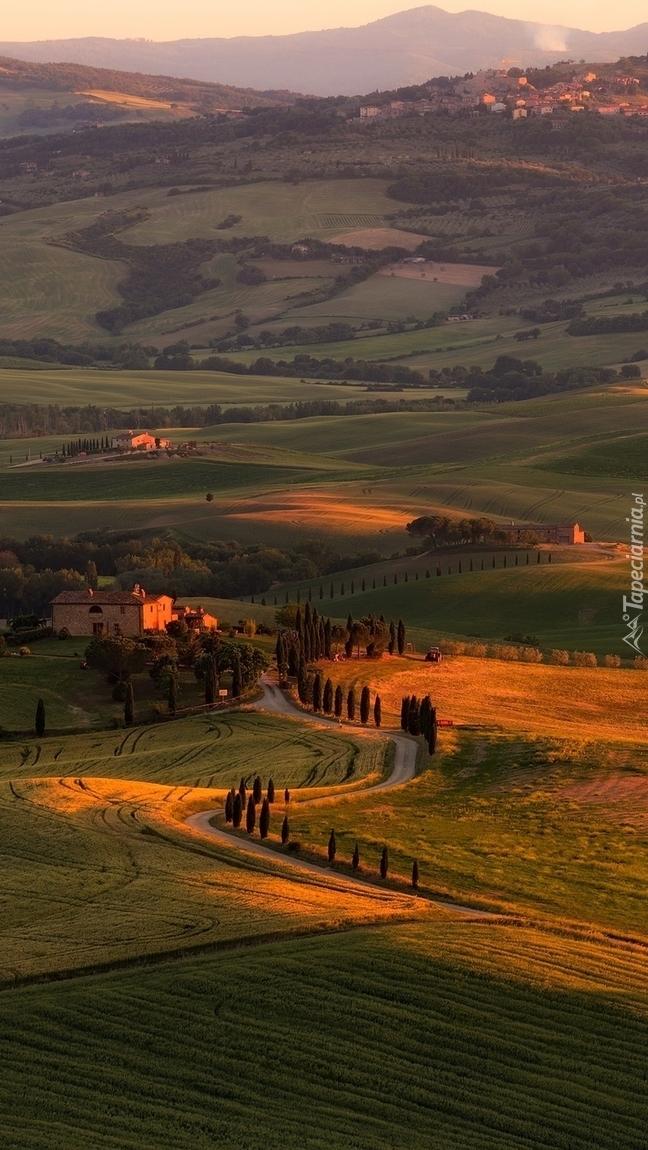 Wzgórza i pola Toskanii