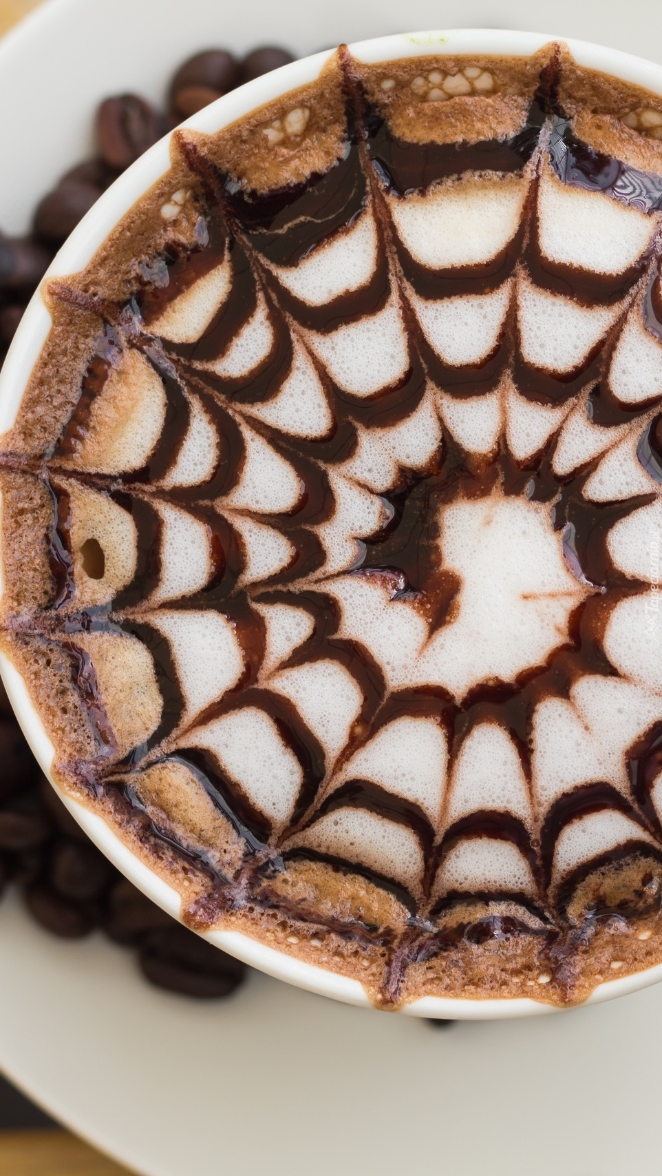 Wzorek na piance kawy