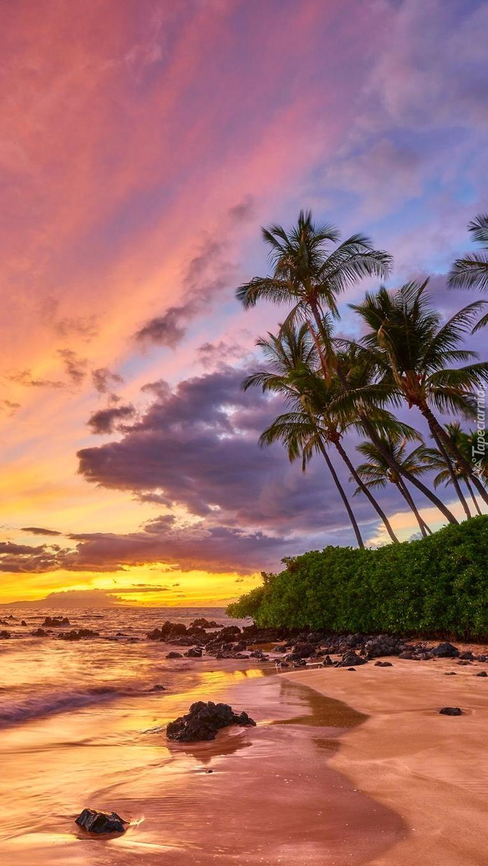 Zachód słońca na Hawajach