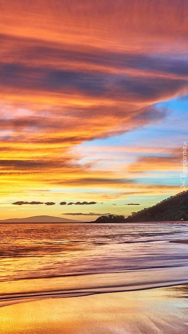 Zachód słońca na wyspie Manui