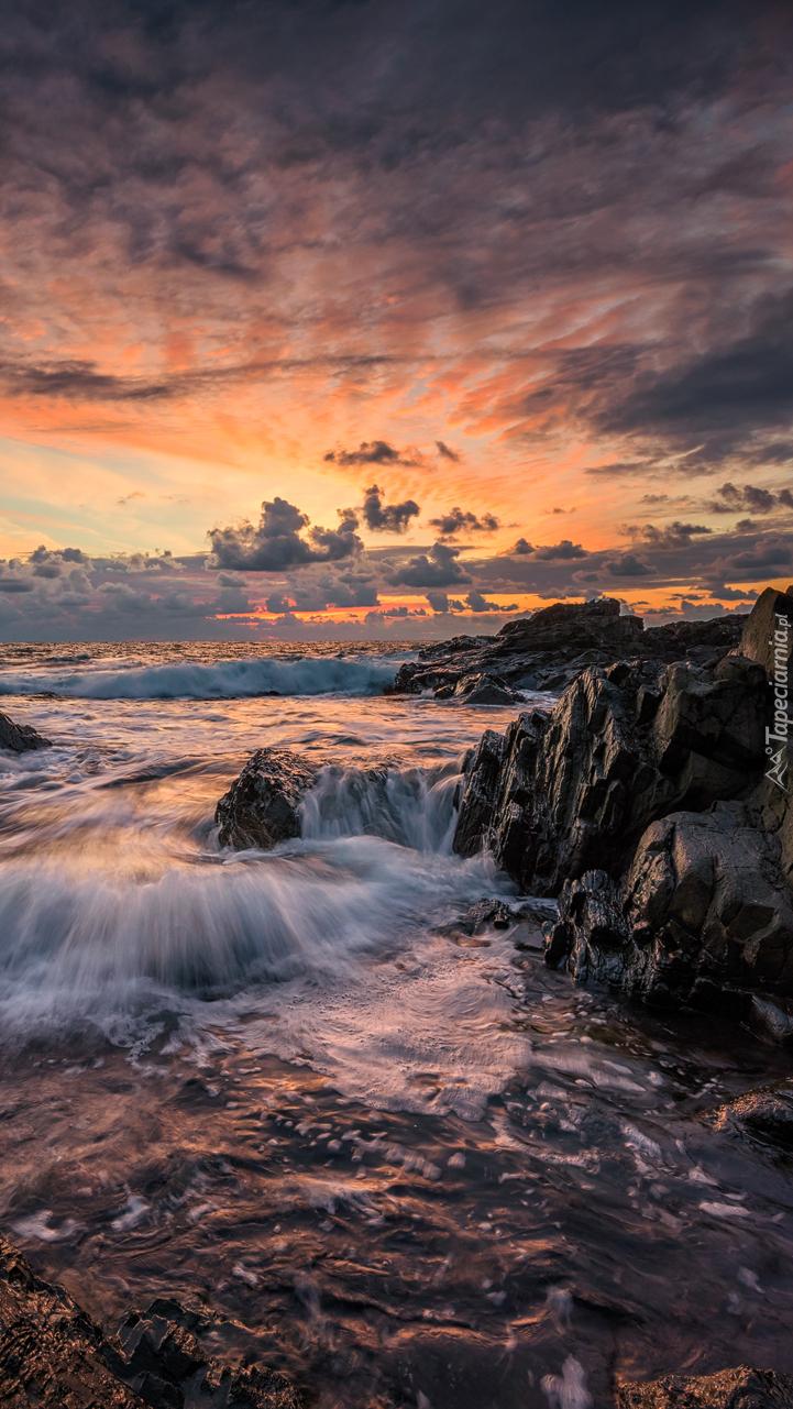 Zachód słońca nad morzem Czarnym