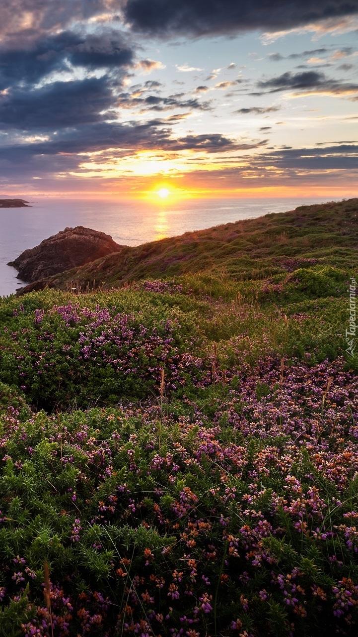 Zachód słońca nad Zatoką Biskajską