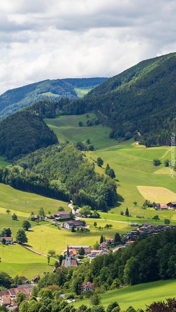 Zalesione wzgórza
