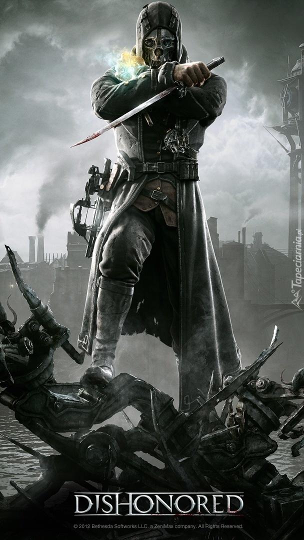 Zamaskowany człowiek z mieczem