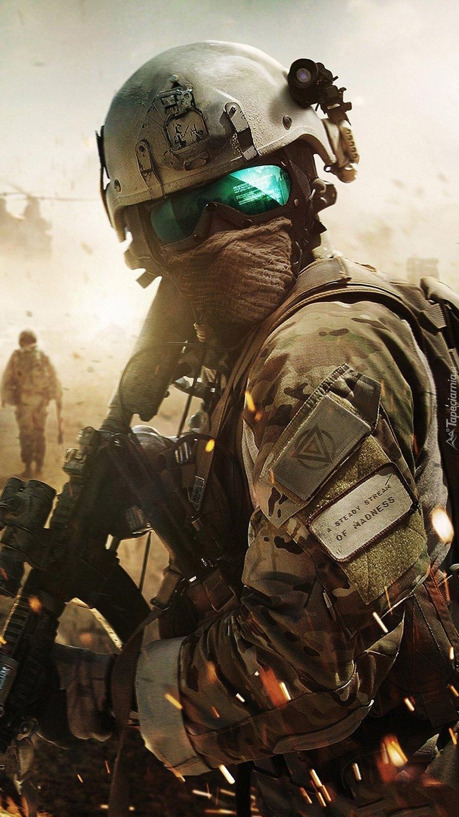 Zamaskowany żołnierz