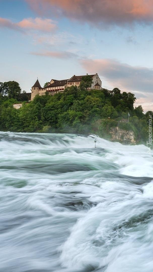 Zamek Laufen nad wodospadem Rheinfall