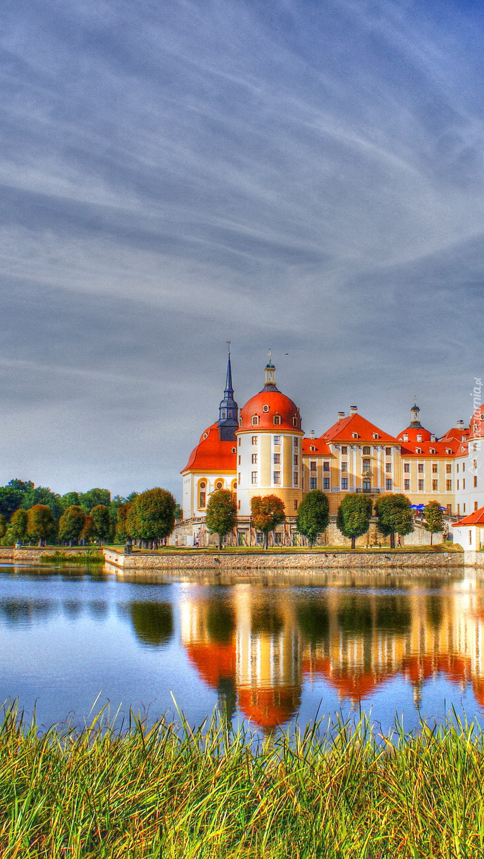 Zamek  Moritzburg w Saksonii