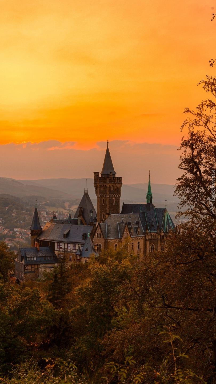Zamek na wzgórzu w Saksonii