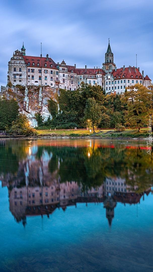 Zamek Sigmaringen nad Dunajem