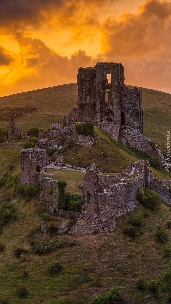 Zamek w Corfe Castle