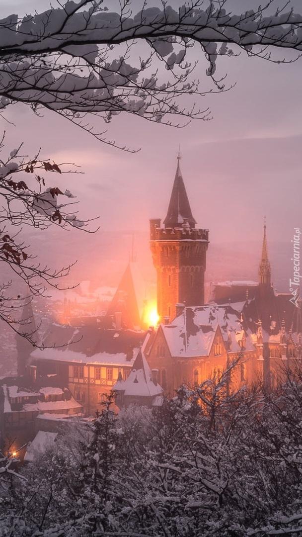 Zamek Wernigerode w Saksonii