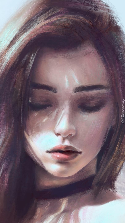 Zamyślona dziewczyna