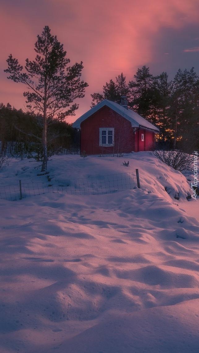Zaśnieżony dom