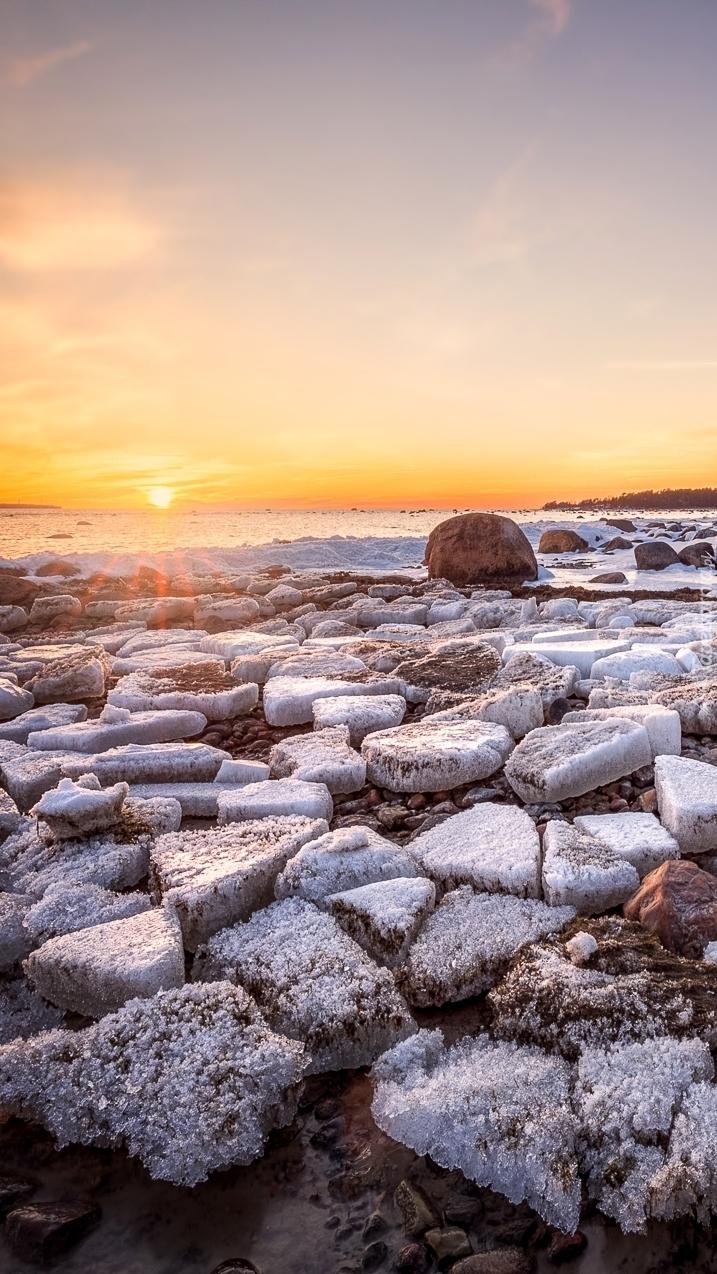 Zatoka Lahepere w Estonii zimą