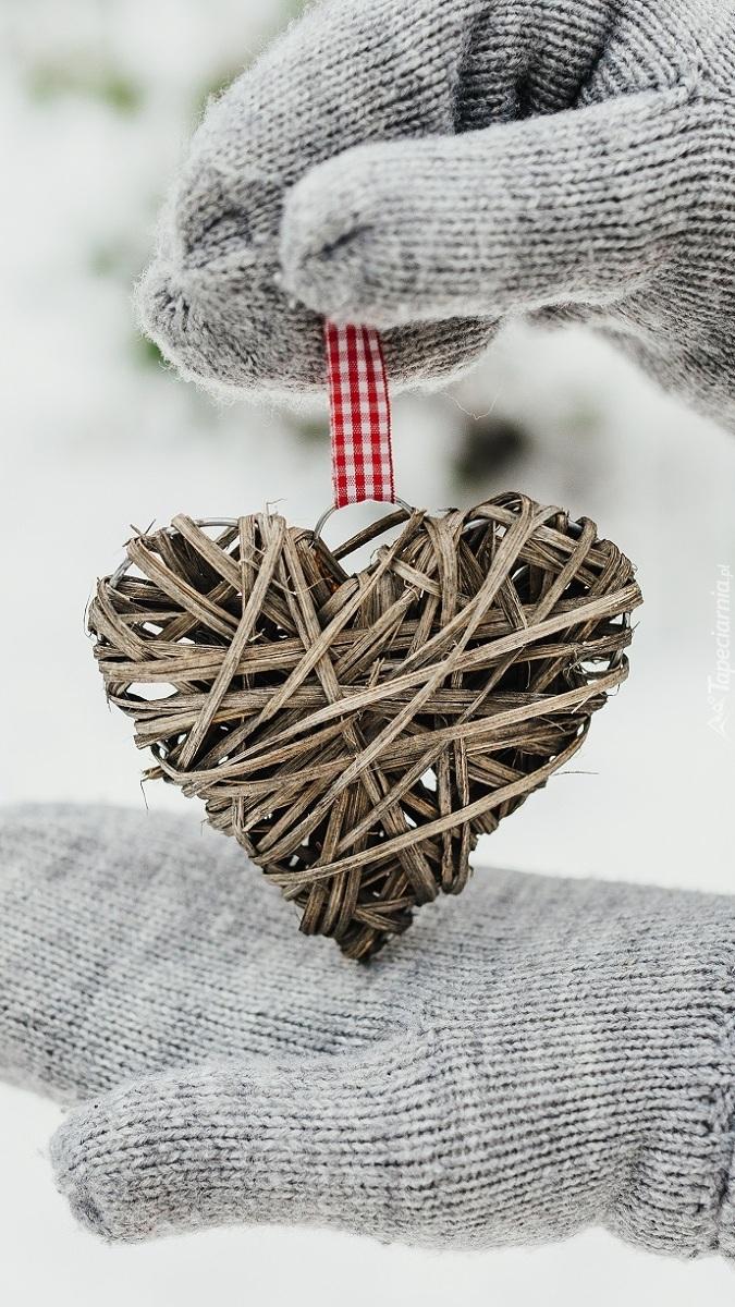 Zawieszka choinkowa w kształcie serca