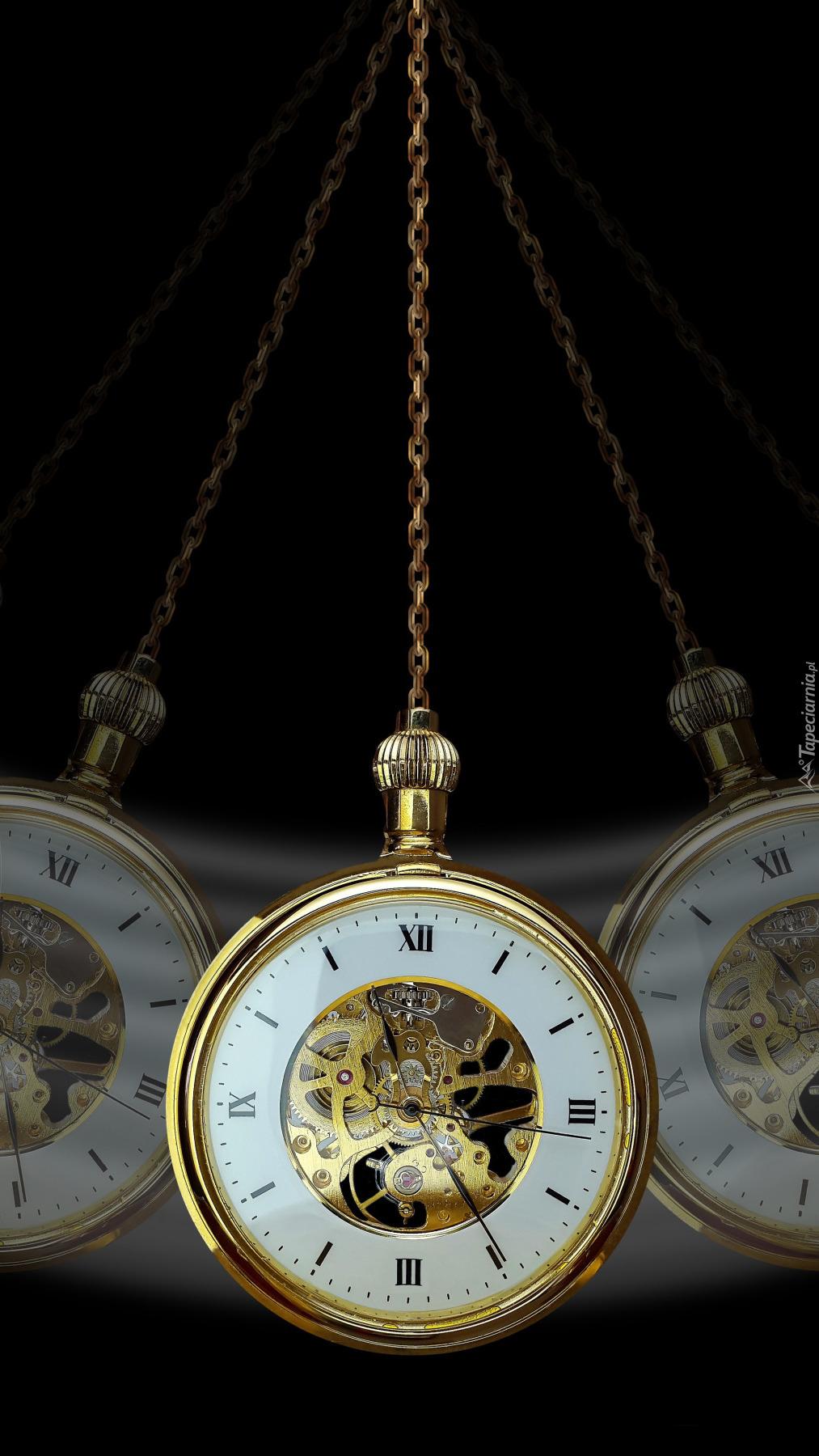 Zegarek z łańcuszkiem