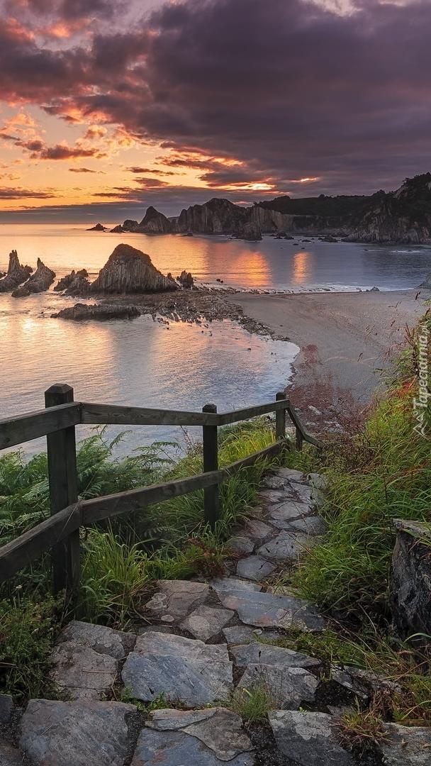 Zejście do morza