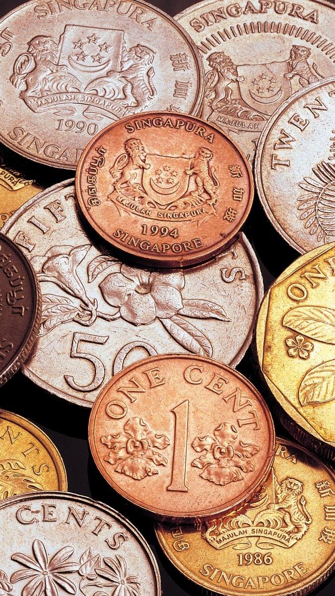 Zestaw monet z Singapuru