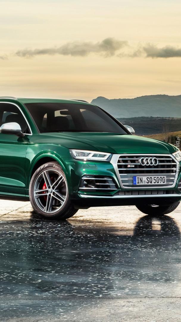 Zielone Audi Q5 TFSI Quatro