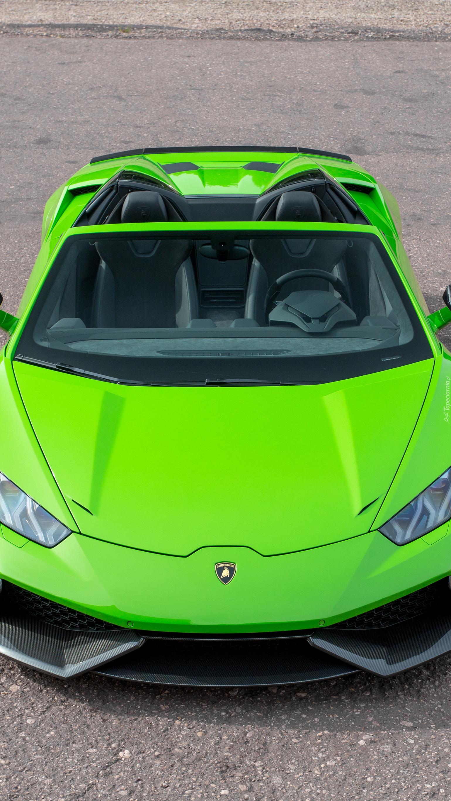 Zielone Lamborghini Huracan Spyder LP610-4
