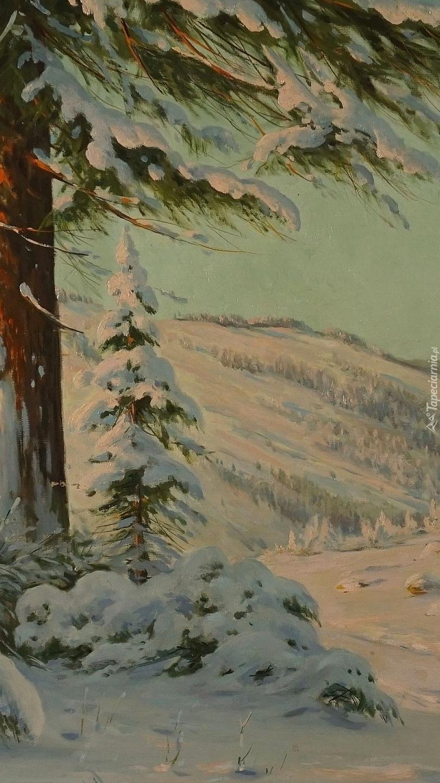 Zima na obrazie Bruno Morasa