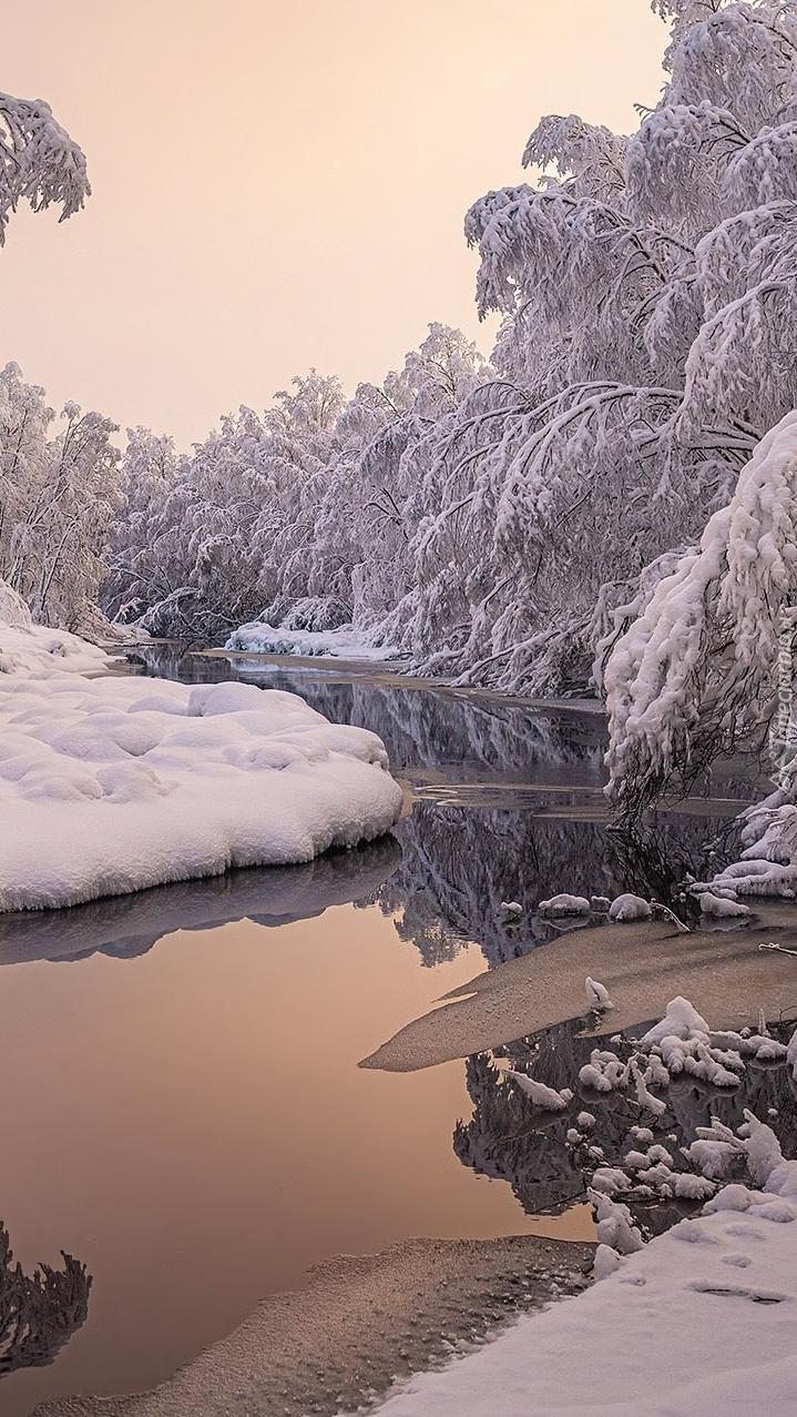 Zima nad rzeką