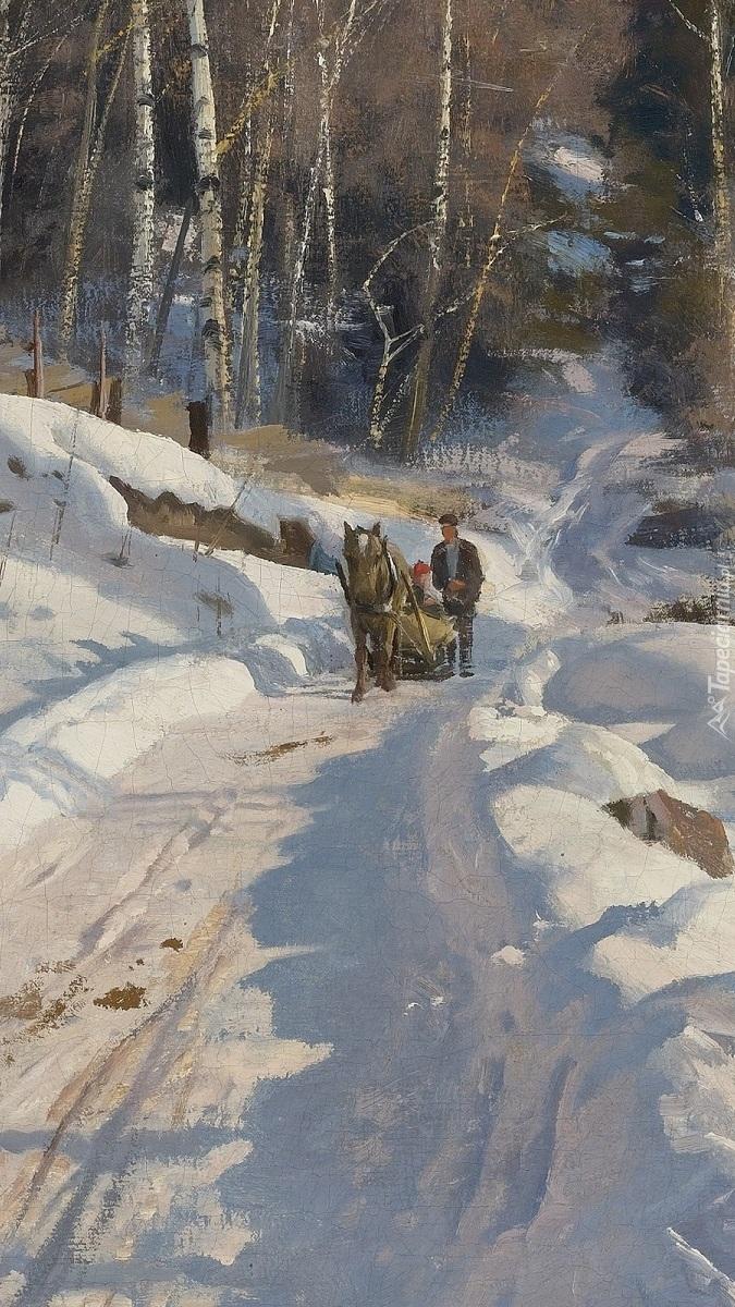 Zima w malarstwie Pedera Monsteda