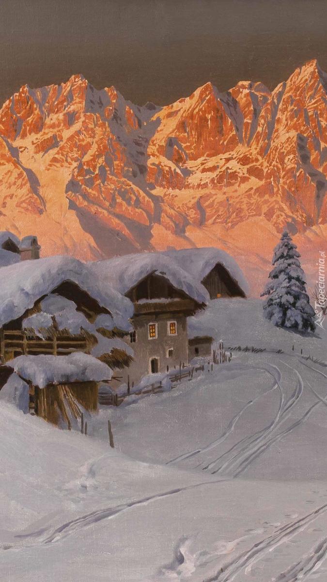 Zimowy krajobraz w malarstwie Aloisa Arneggera
