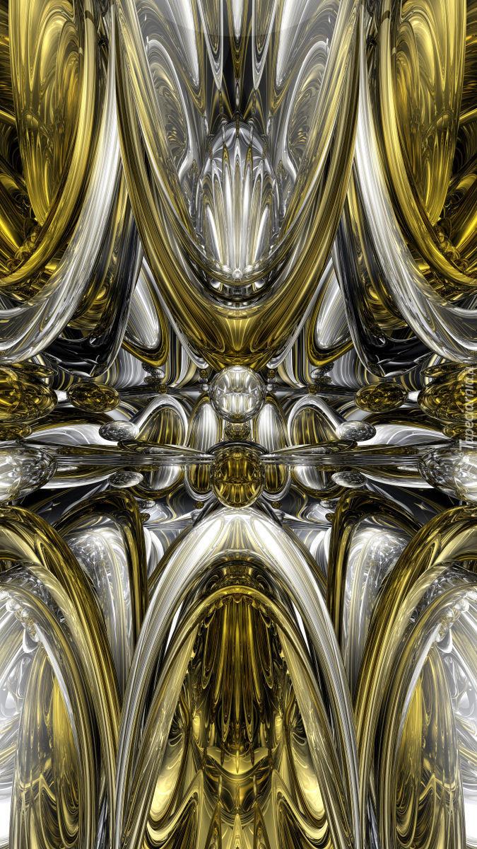 Złoto-biała abstrakcja