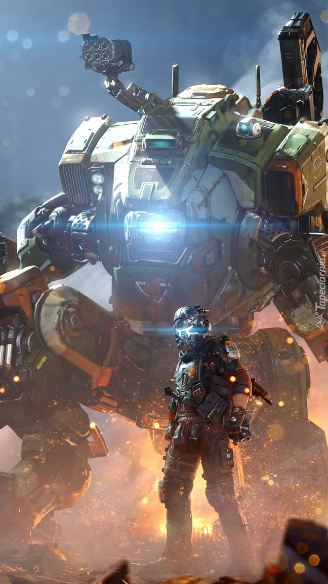 Żołnierz i robot z gry Titanfall
