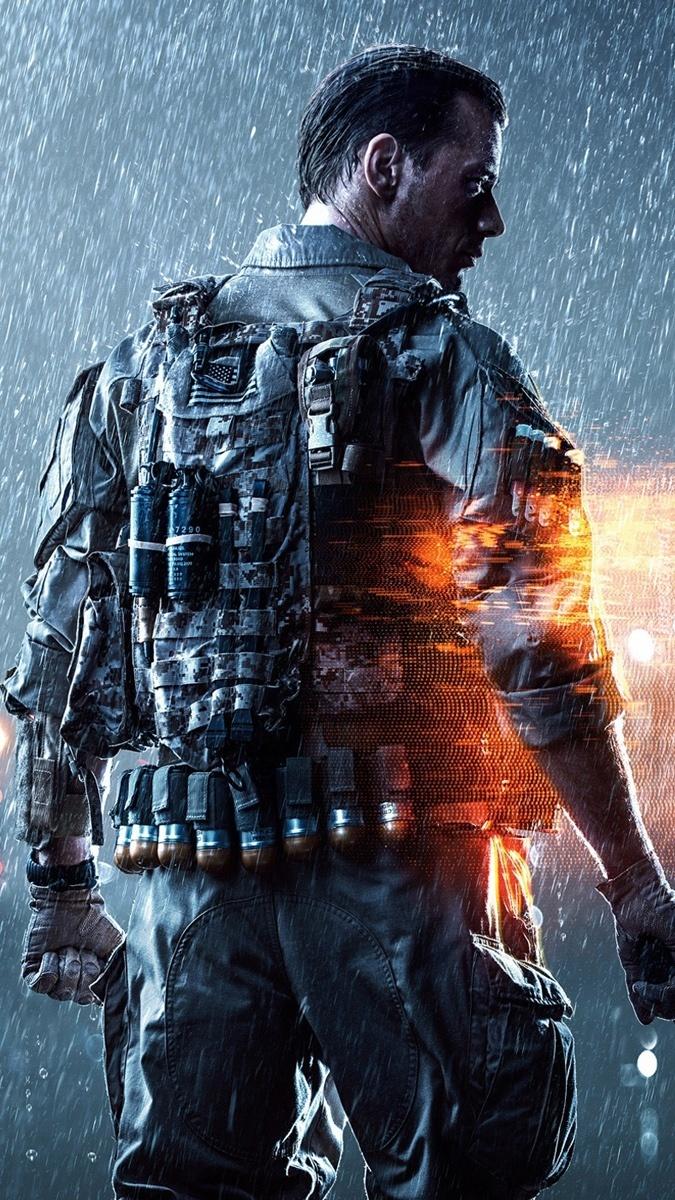 Żołnierz w deszczu