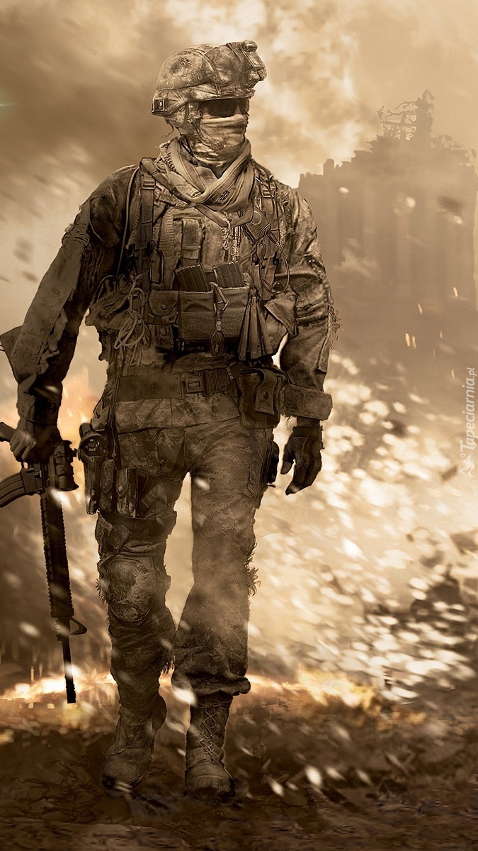 Żołnierz w gotowości do walki