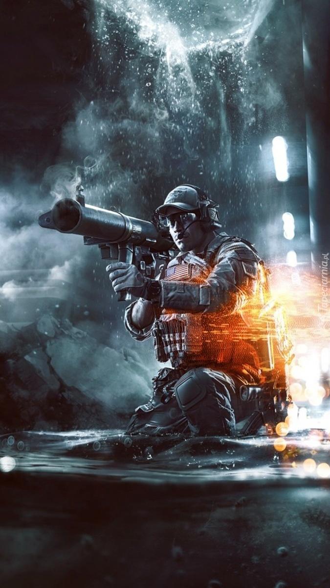 Żołnierz w grze Battlefield 4