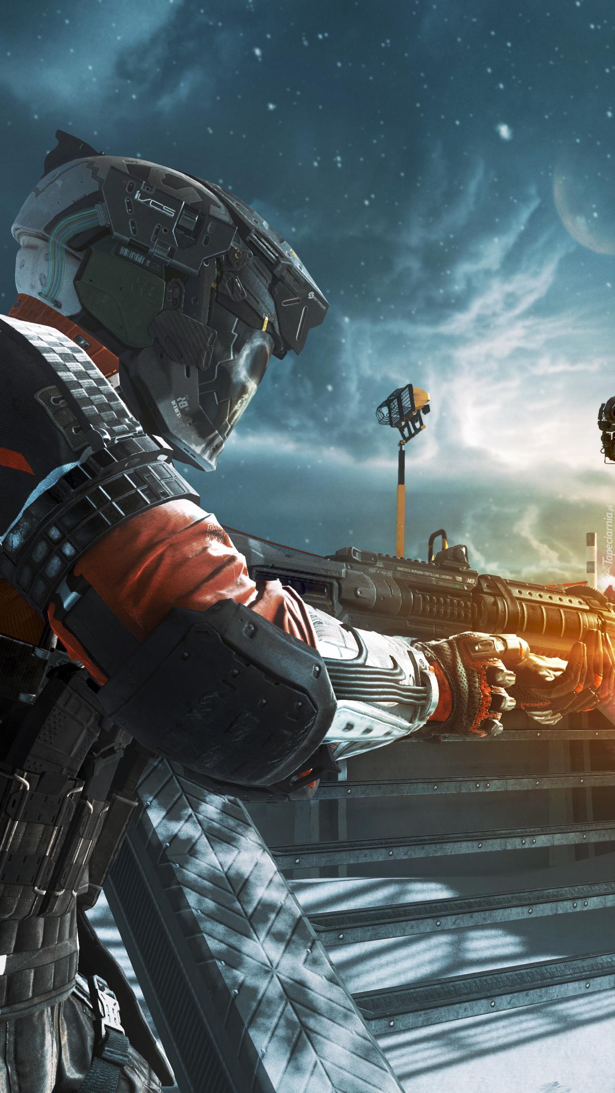 Żołnierz w grze komputerowej Call Of Duty: Infinite Warfare