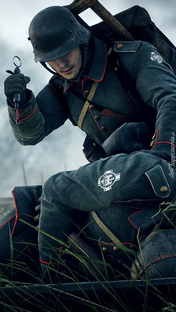 Żołnierz z gry Battlefield 1