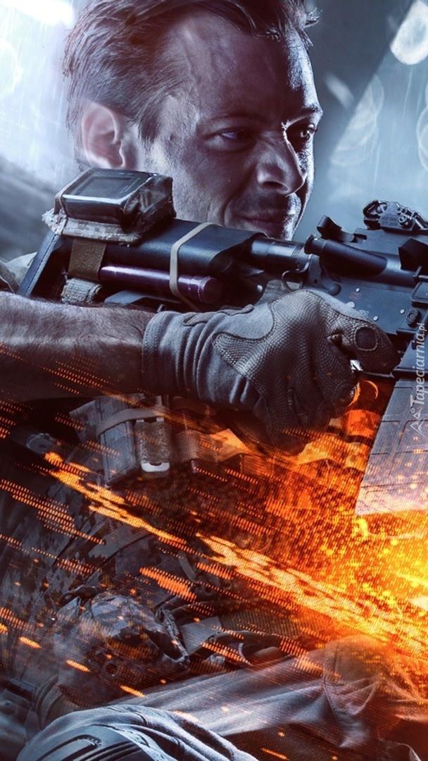 Żołnierz z gry Battlefield 4