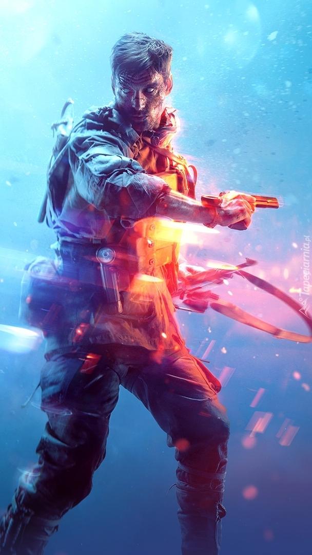 Żołnierz z gry Battlefield V
