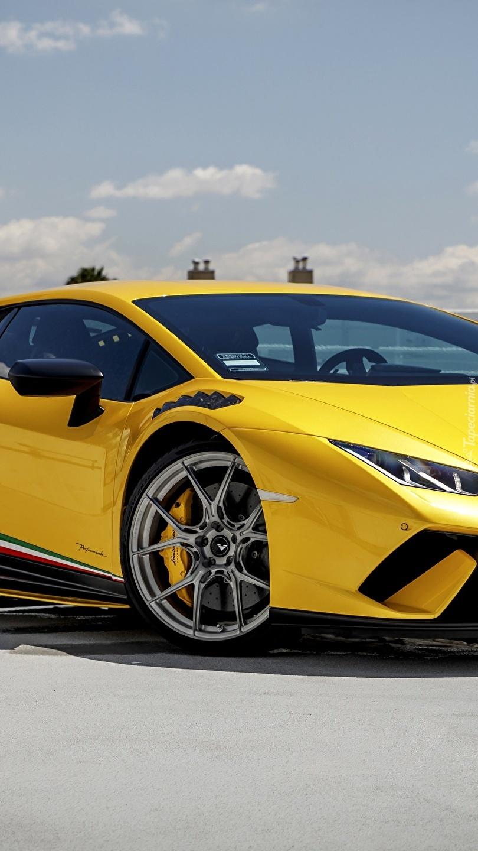 Żółte Lamborghini Huracan