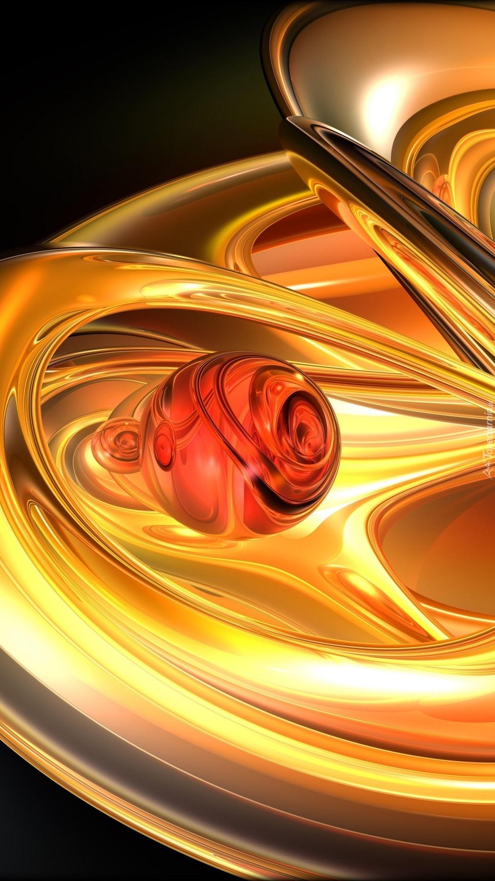 Żółto-pomarańczowa  abstrakcja