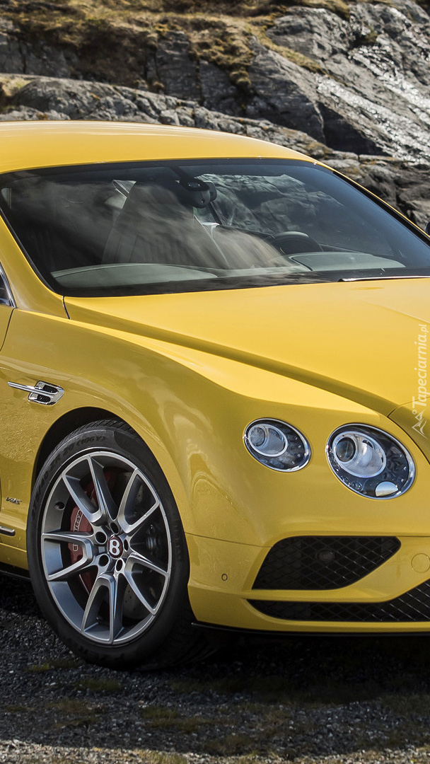 Żółty Bentley Continental GT