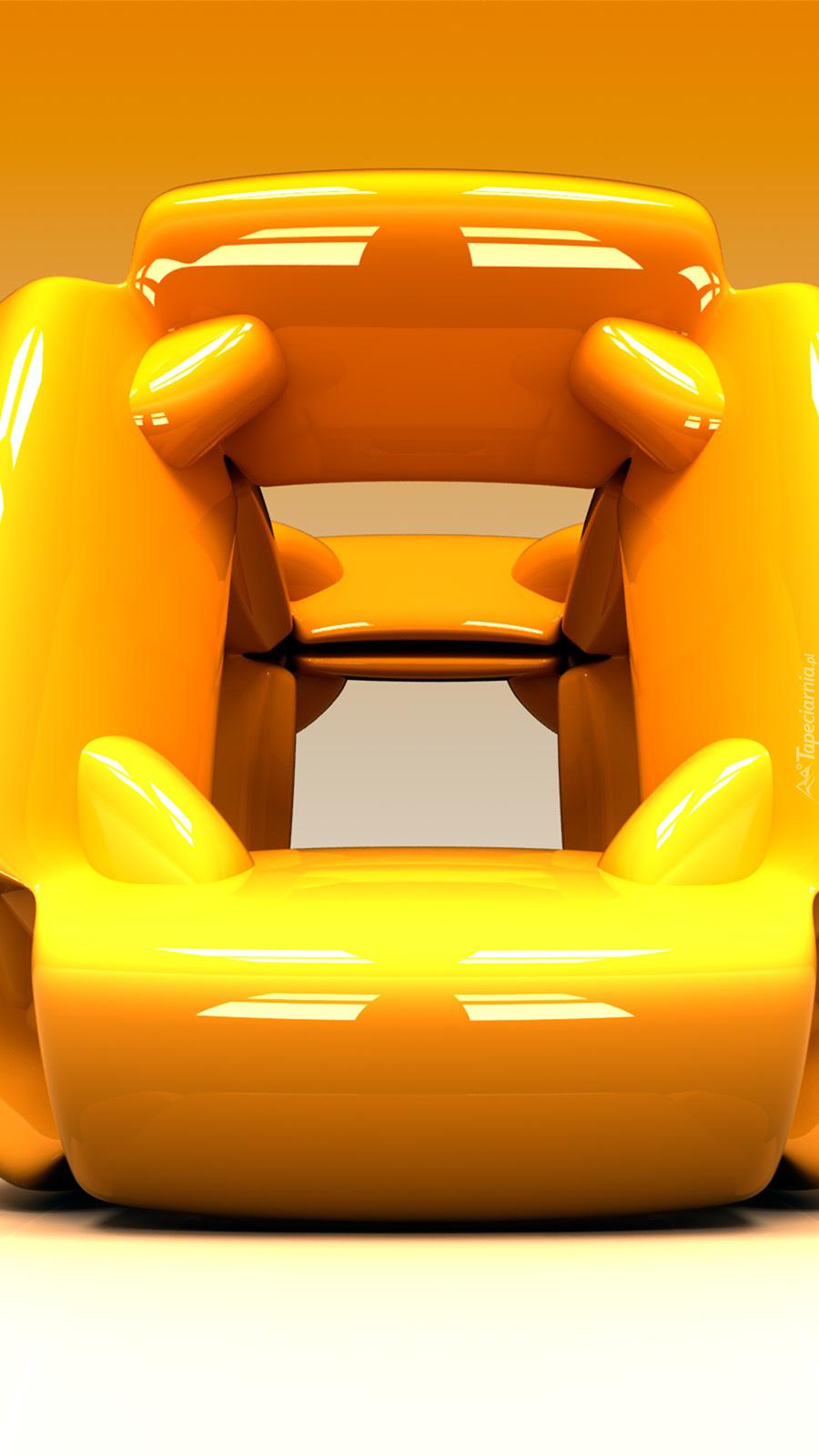 Żółty element w 3D