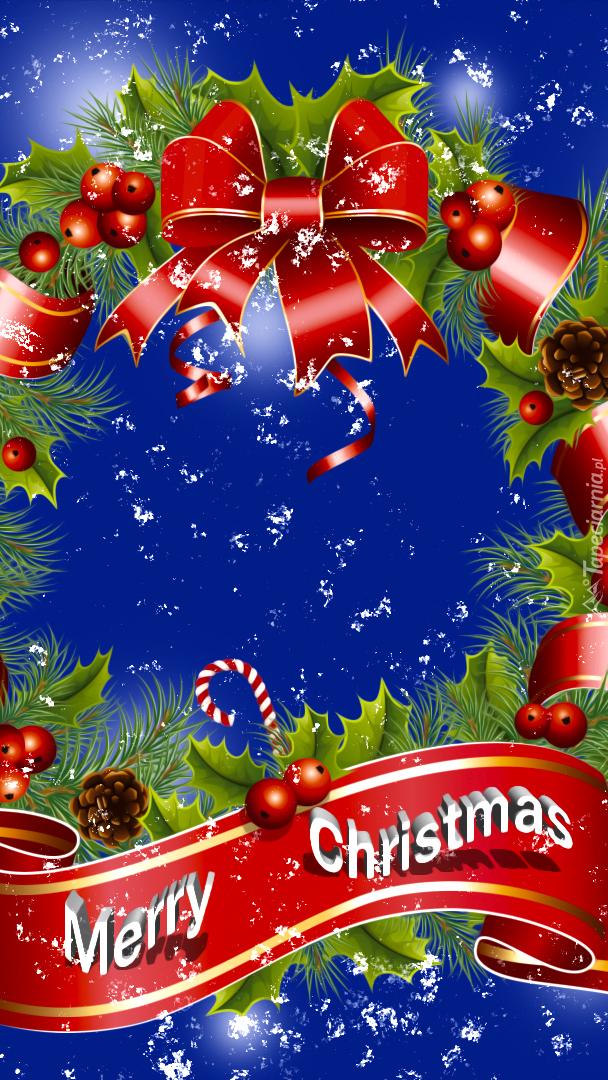 Życzenia świąteczne na adwentowym wieńcu