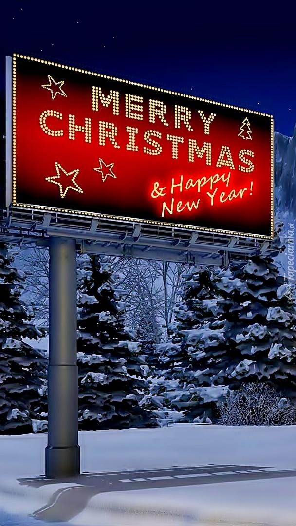 Życzenia świąteczne na bilboardzie