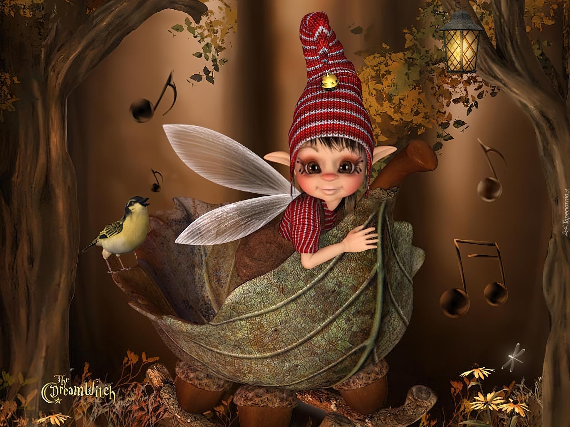 умные картинки с феями и эльфами сбоку, отом верхнему